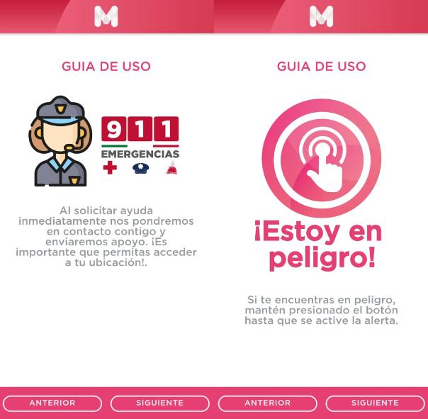 Captura pantalla de App Mujeres Seguras.