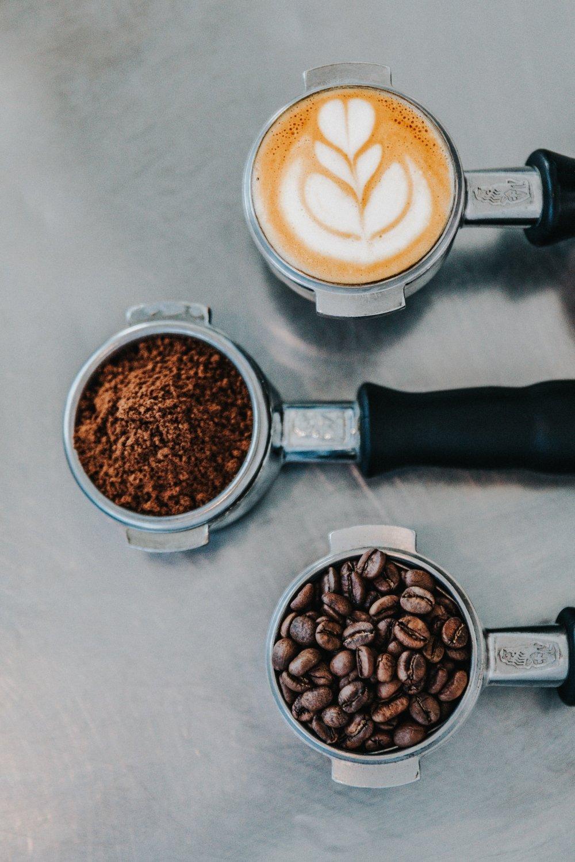 café en grano, café molido y café hecho