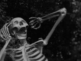 esqueleto gritando