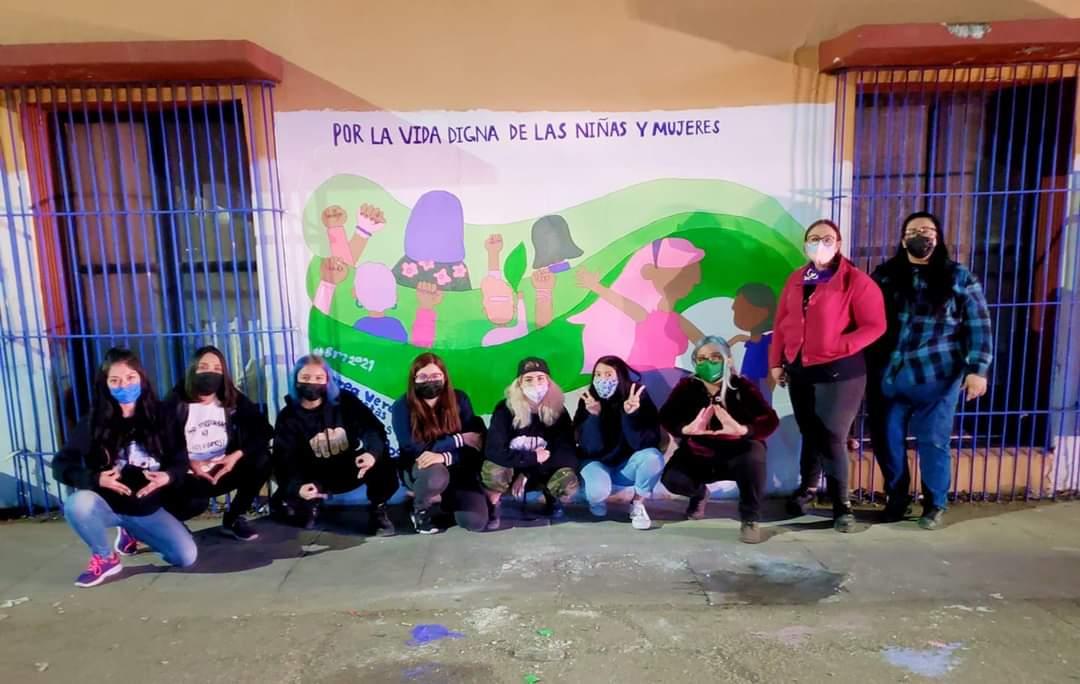Chicas de colectivo Marea Verde