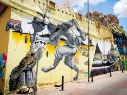 Parte de la Calle del Arte en Hermosillo