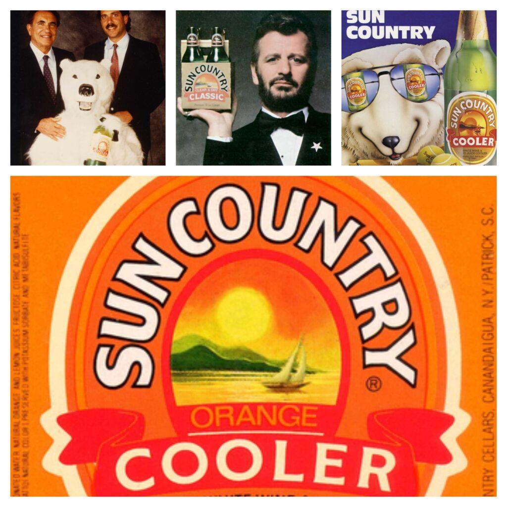 Collage de imágenes de historia de la empresa cervecera.