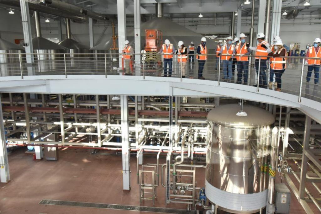 Planta de producción de cerveza en Obregón.