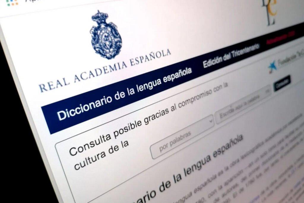 Imagen de página del Diccionario de la RAE.