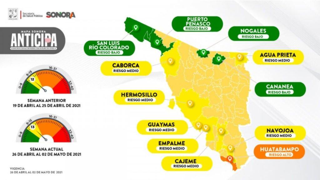 Mapa de Sonora Anticipa