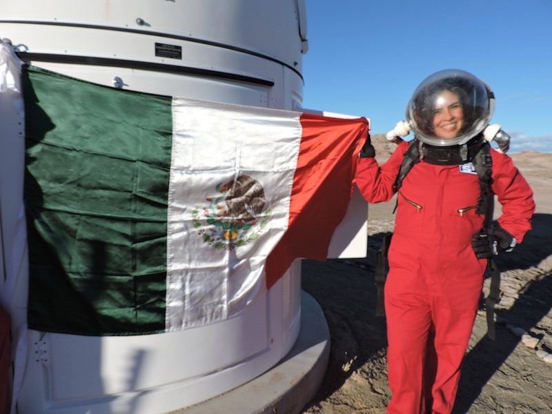 Carmen Félix primer astronauta análoga mexicana