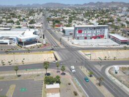 Imágen aérea de calles de Hermosillo.