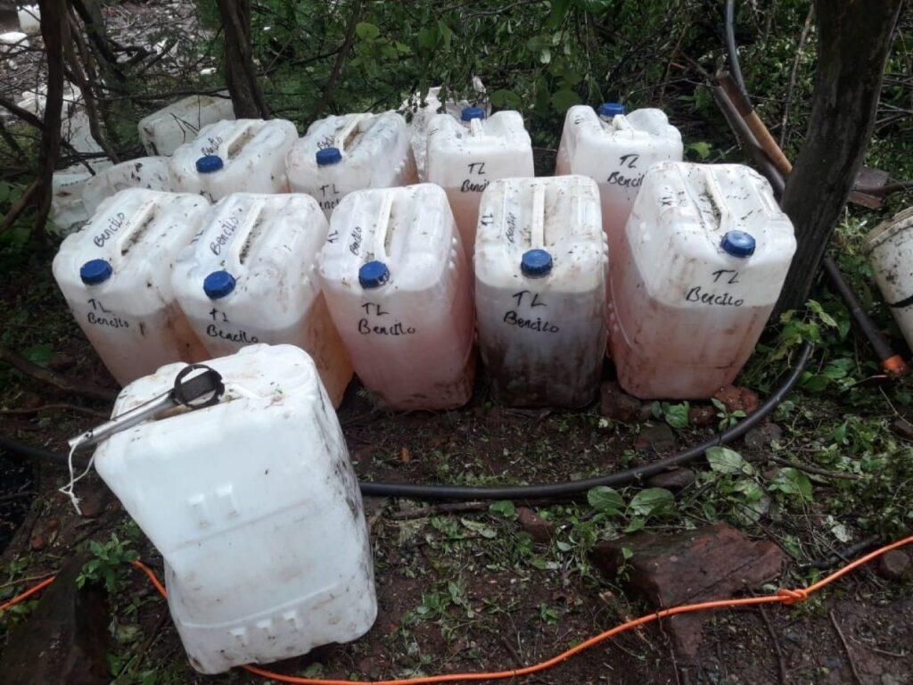 Precursores químicos confiscados.