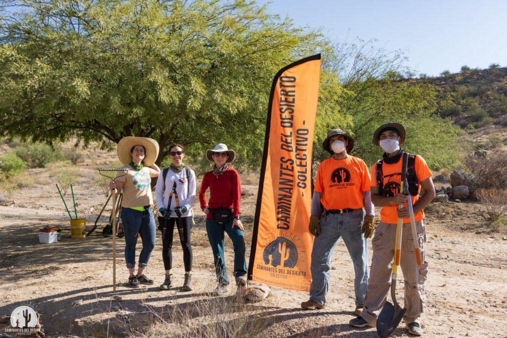 Parte del colectivo Caminantes del Desierto