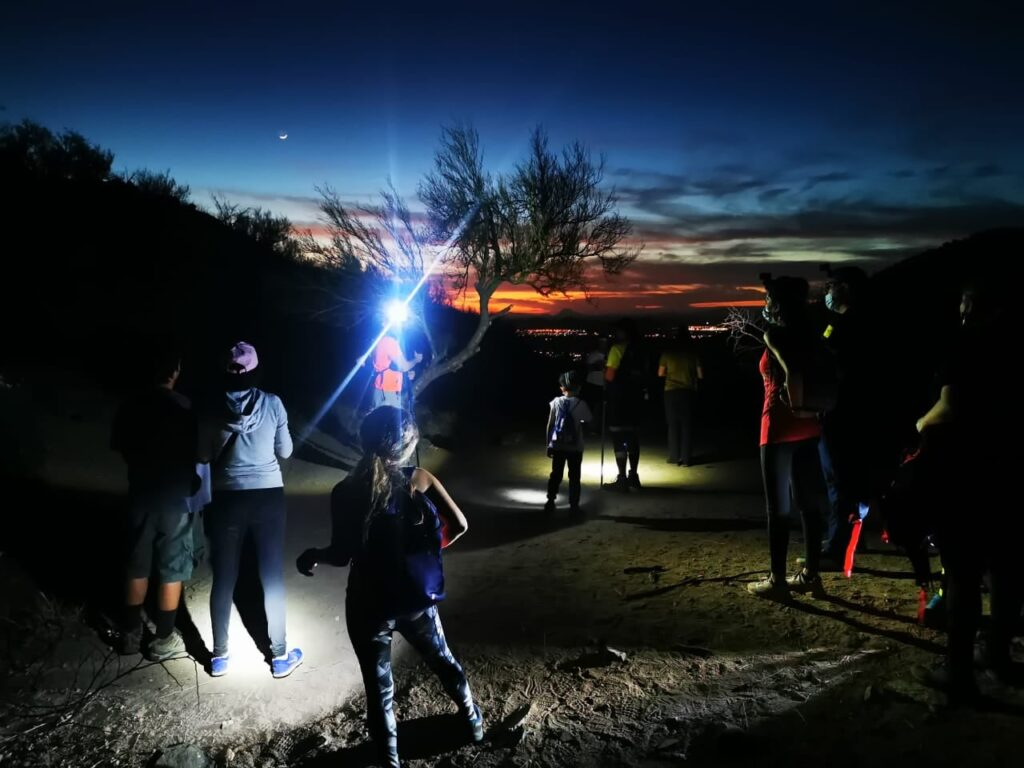 Caminata organizada por Caminantes del Desierto