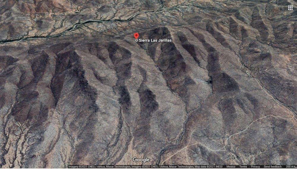 Geolocalización de Sierra Las Jarillas, Sonora, México