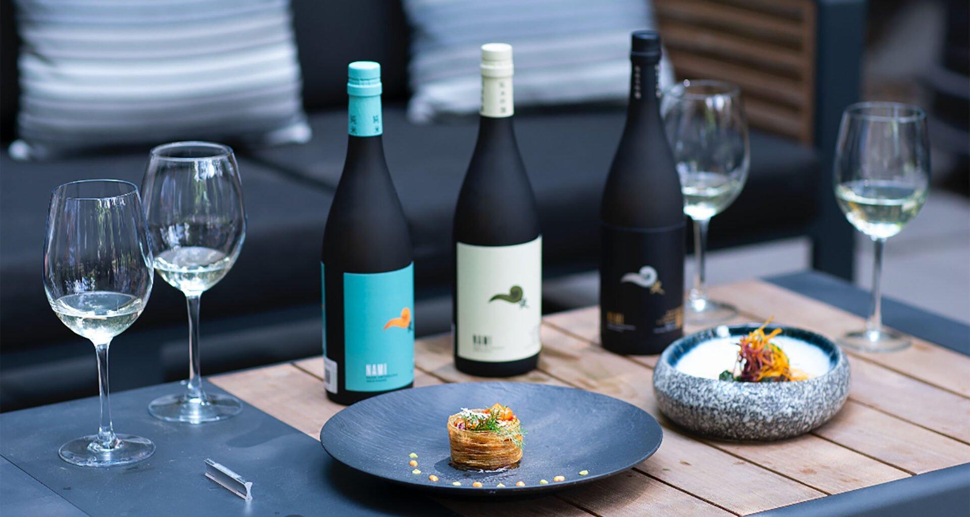 Sake maridaje con mariscos