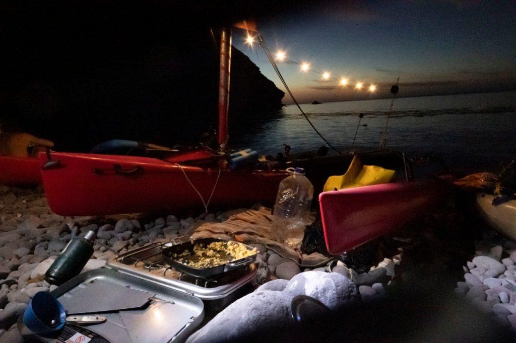 campamento en kayak