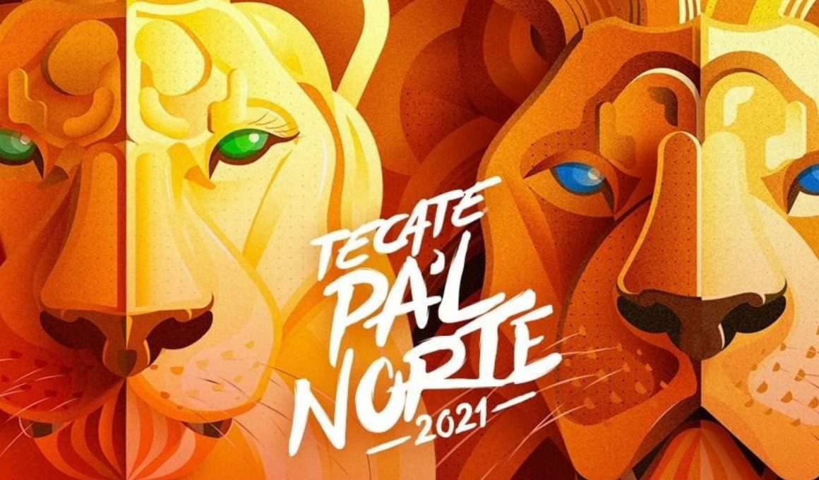cartel ilustración Tecate Pa'l Norte