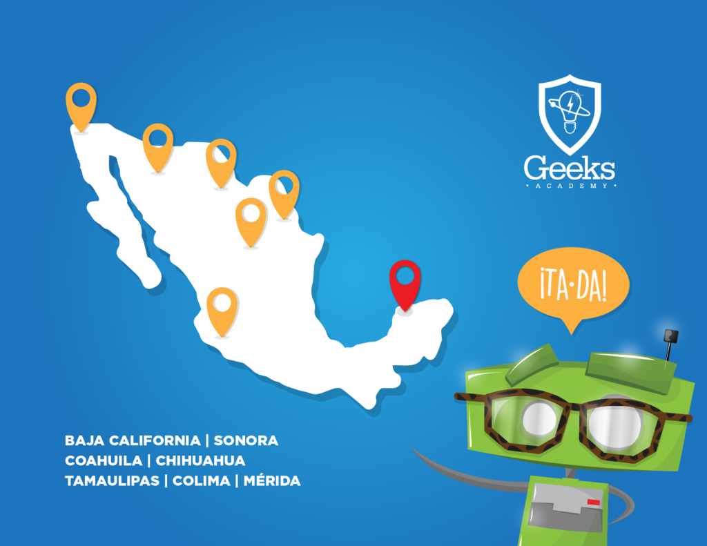 Sucursales de Geeks Academy en México.