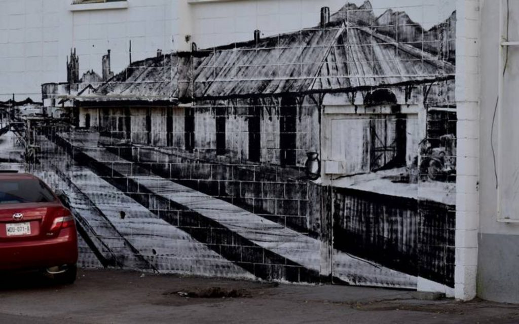 Mural por el andador PaBLO en Hmo