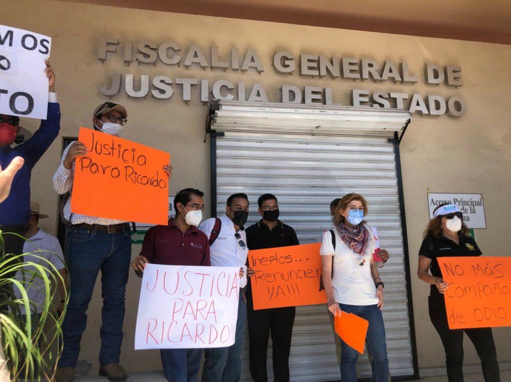 Periodistas de Sonora exigiendo justicia