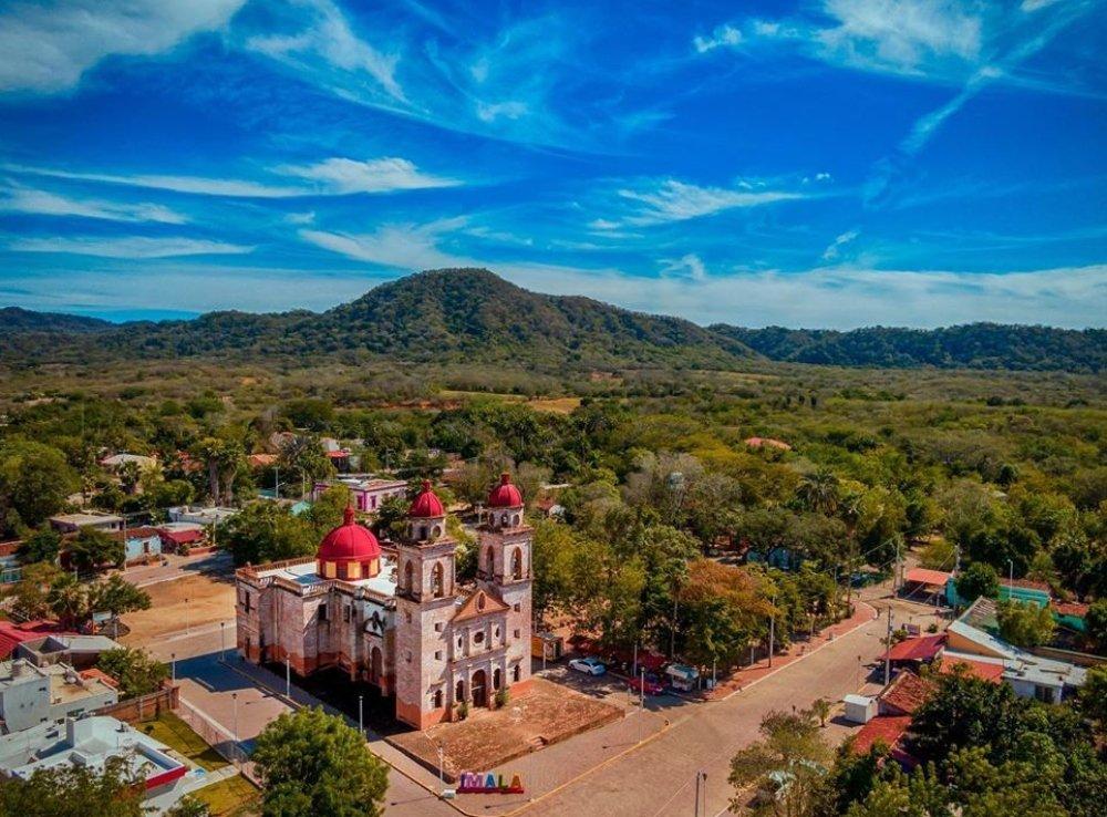Vista aérea de Imala, Sinaloa.