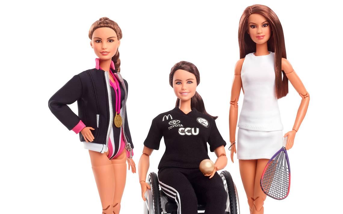 Barbies de Paola Espinosa, Francisca Mardones y Paola Longoria.