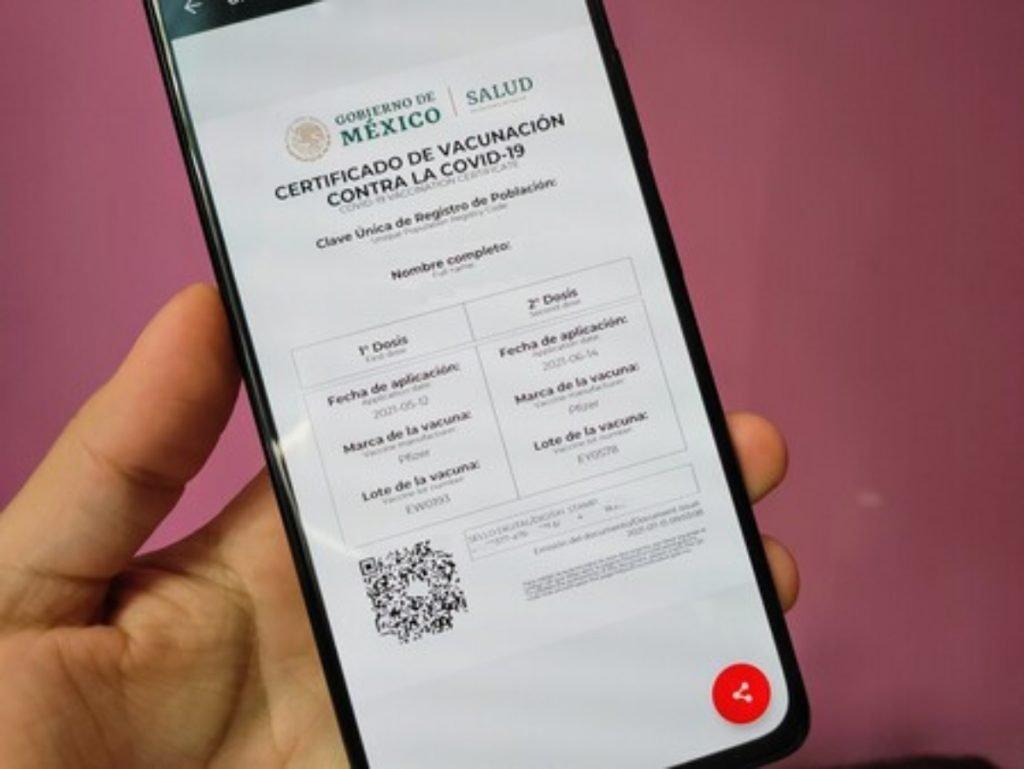 Certificado de vacunación contra Covid-19
