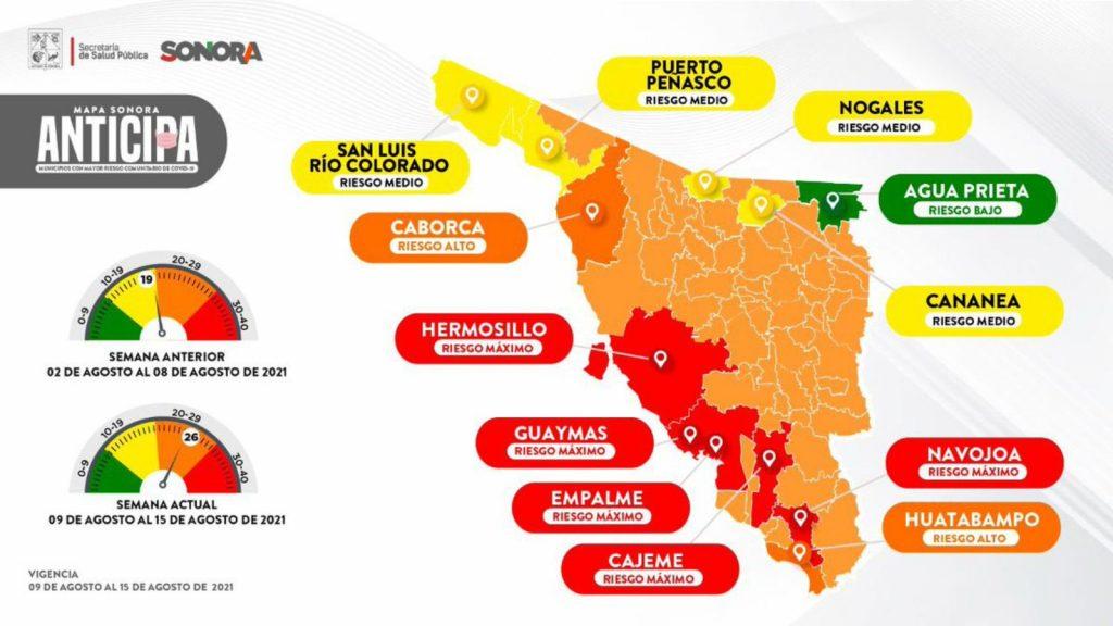 Mapa epidemiológico de Salud Sonora