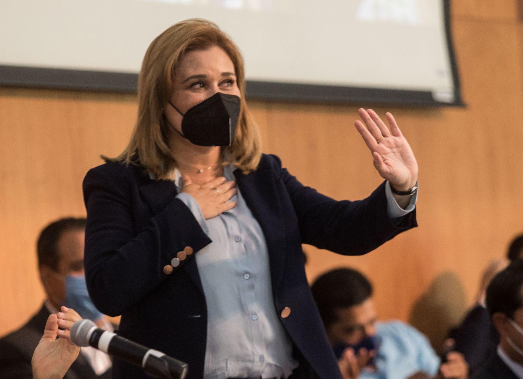 Gobernadora electa, María Eugenia Campos Galván.