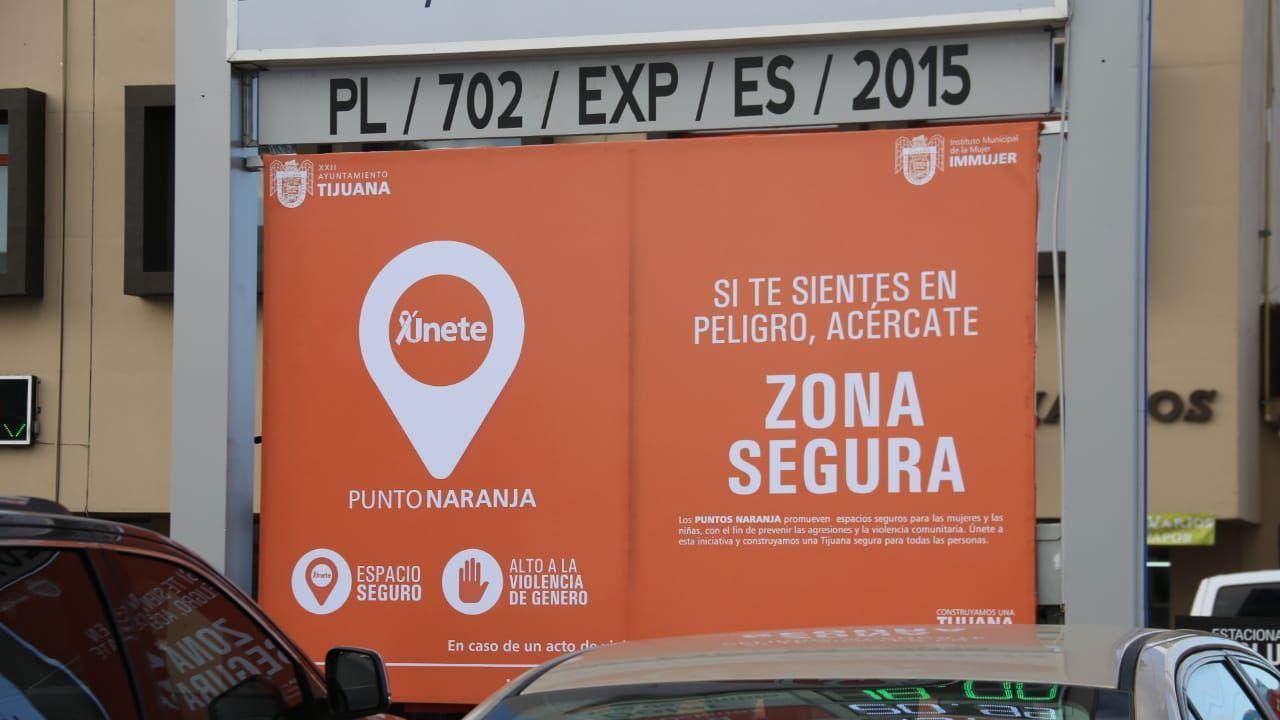 Señal de Punto Naranja en Tijuana.