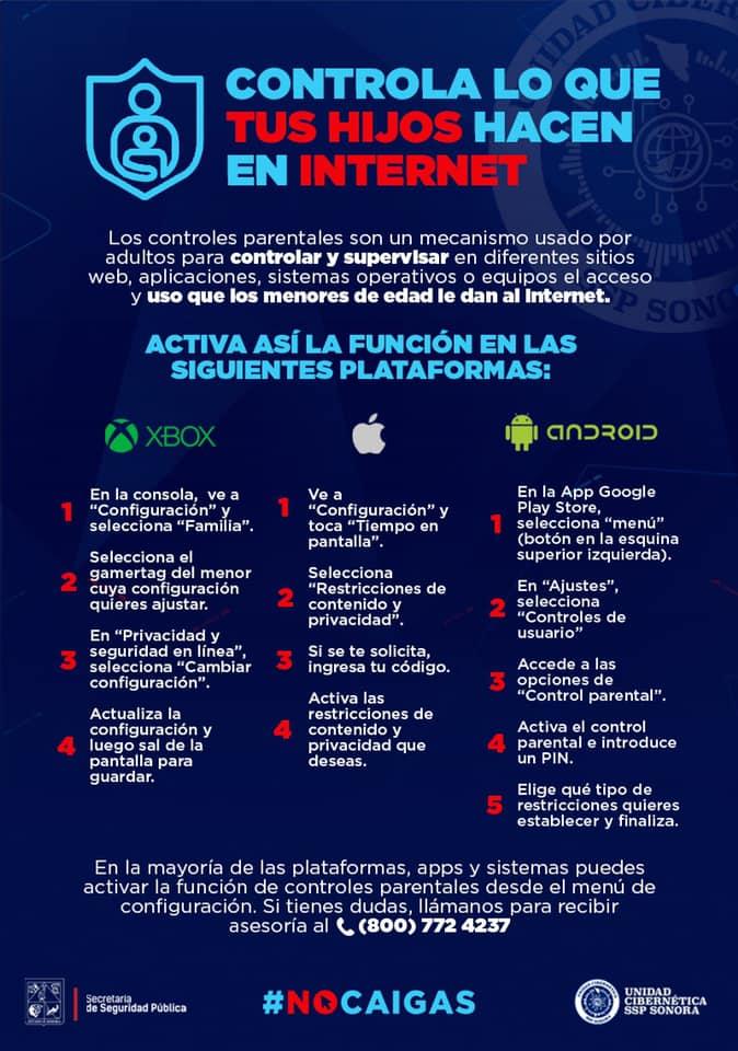 Infografía con información de la SSP Sonora.