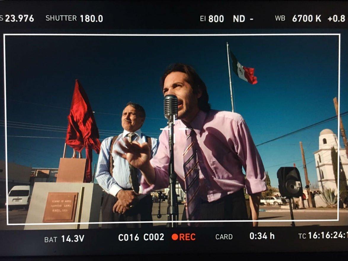 Filmación en Naco, Sonora de serie Run Coyote Run.
