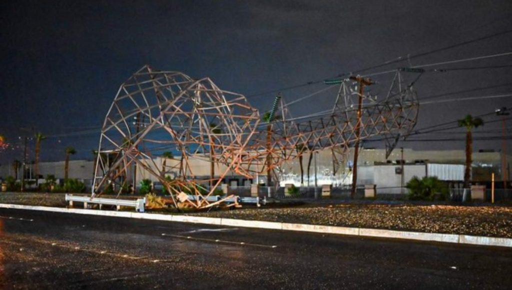 Torre caída de Tormenta eléctrica