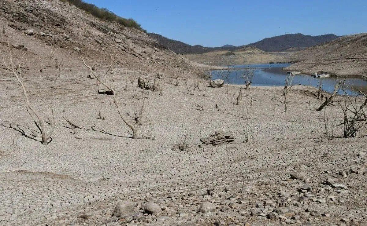 Presa seca en Sinaloa.