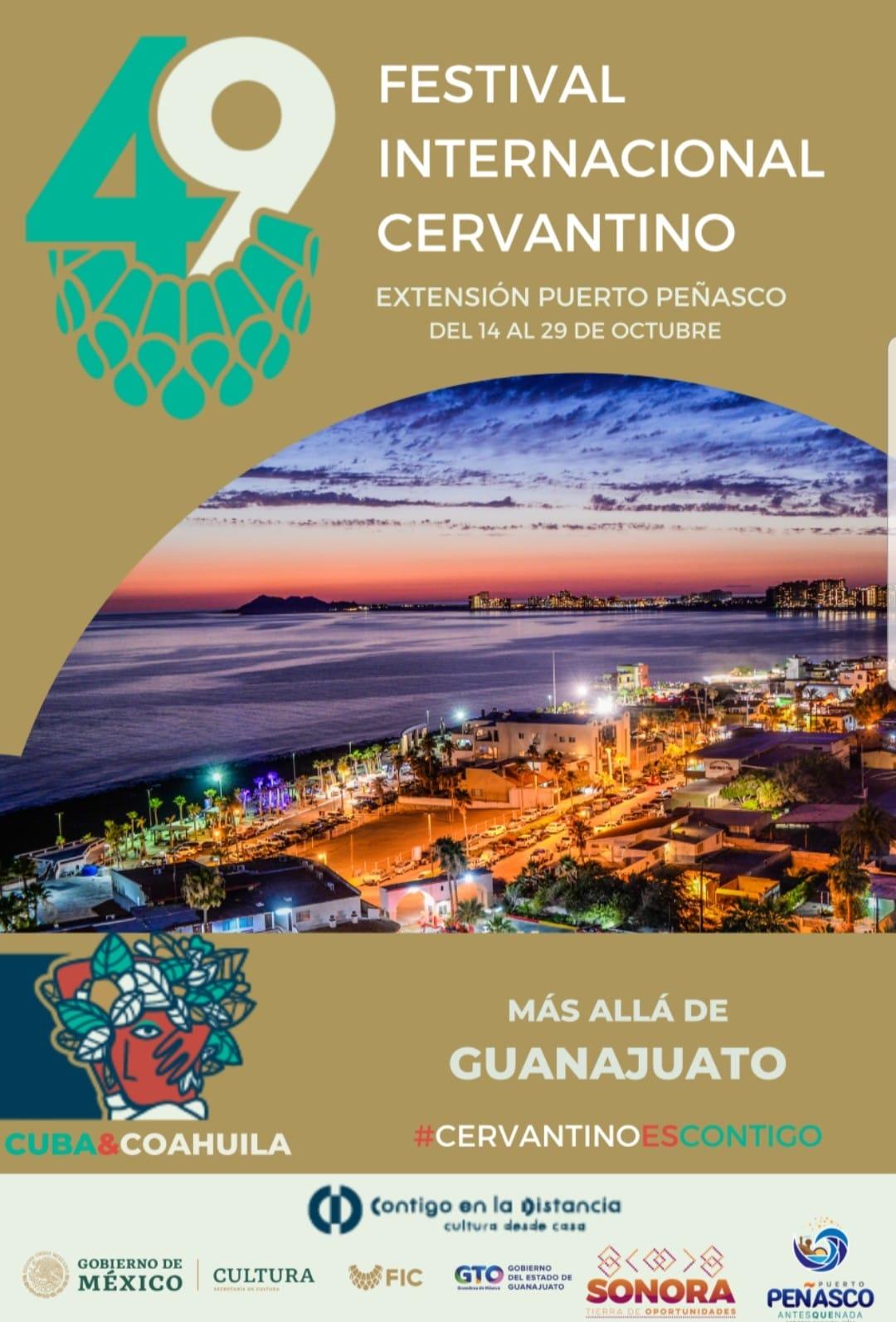 Poster oficial del Festival Cervantino en Puerto Peñasco.